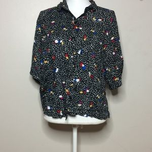Tops - Toucan Button down Blouse N1